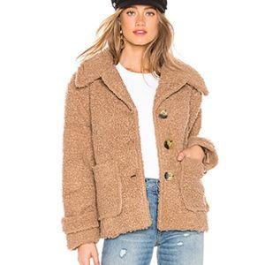 Free People Jacket Teddy Bear So Soft Cozy Peacoat